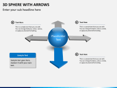 3D sphere with arrows PPT slide 6