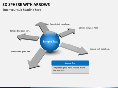 3D sphere with arrows PPT slide 7