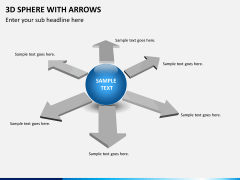 3D sphere with arrows PPT slide 8