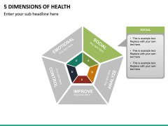 5 Dimensions of health PPT slide 9