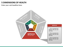 5 Dimensions of health PPT slide 11