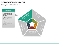 5 Dimensions of health PPT slide 13