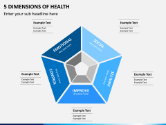 5 Dimensions of health PPT slide 1