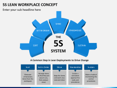 5S learn workplace concept PPT slide 3