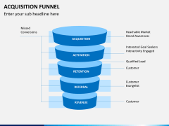 Acquisition funnel PPT slide 1