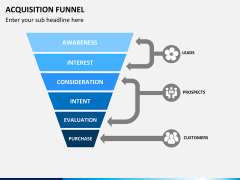 Acquisition funnel PPT slide 5