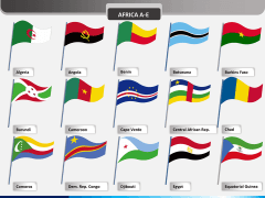 Africa flags PPT slide 1
