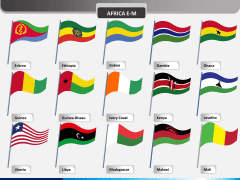 Africa flags PPT slide 2
