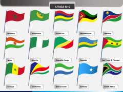 Africa flags PPT slide 3