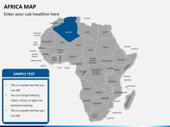 Africa map PPT slide 10