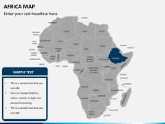 Africa map PPT slide 11