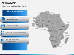 Africa map PPT slide 13
