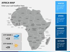 Africa map PPT slide 15