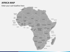 Africa map PPT slide 2