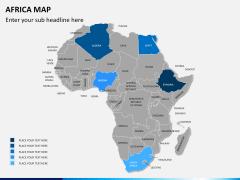 Africa map PPT slide 3