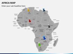 Africa map PPT slide 4