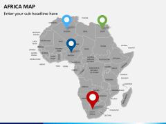 Africa map PPT slide 5
