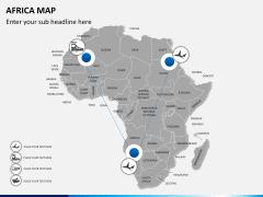 Africa map PPT slide 7