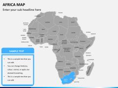 Africa map PPT slide 8