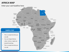 Africa map PPT slide 9