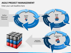 Agile project management PPT slide 1