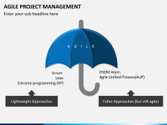 Agile project management PPT slide 3