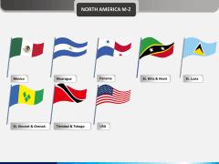 America flags PPT slide 1