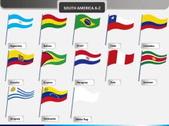 America flags PPT slide 2
