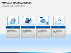 Annual financial report PPT slide 1