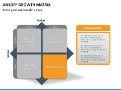 Ansoff growth matrix PPT slide 21