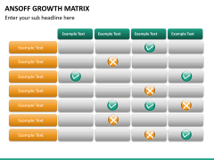 Ansoff growth matrix PPT slide 16