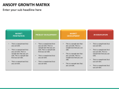 Ansoff growth matrix PPT slide 17