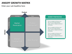 Ansoff growth matrix PPT slide 19