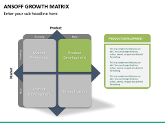 Ansoff growth matrix PPT slide 20