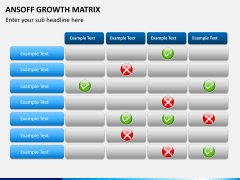 Ansoff growth matrix PPT slide 5