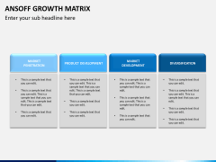 Ansoff growth matrix PPT slide 6