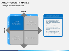 Ansoff growth matrix PPT slide 8