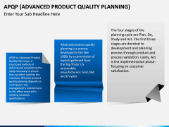 Advanced Product Quality Planning (APQP) Model PPT slide 3