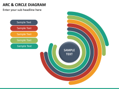 Arc and circle diagram PPT slide 9