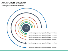 Arc and circle diagram PPT slide 12