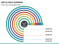 Arc and circle diagram PPT slide 13