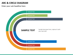 Arc and circle diagram PPT slide 14
