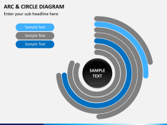 Arc and circle diagram PPT slide 1