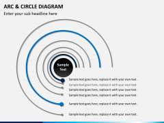 Arc and circle diagram PPT slide 4