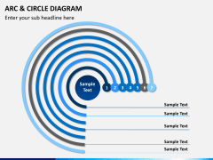 Arc and circle diagram PPT slide 5