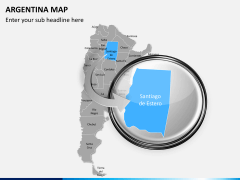 Argentina map PPT slide 13