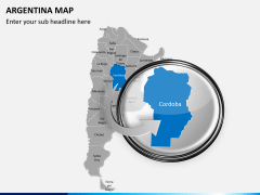 Argentina map PPT slide 14