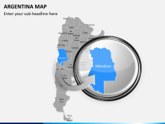 Argentina map PPT slide 15