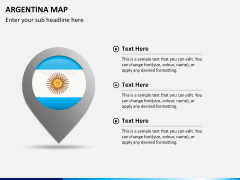 Argentina map PPT slide 22