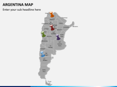 Argentina map PPT slide 3